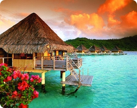 Bora Bora - Hut over the beach - I could live here for the rest of my life.