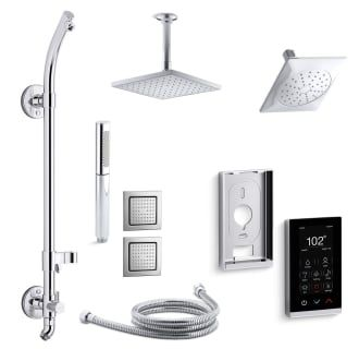View the Kohler K-LOURE-DTV18HR-E Loure DTV+ HydroRail Eco Shower System with Single Function Shower Head, Hand Shower, Rain Head, Body Sprays, Valve Trims at Build.com.