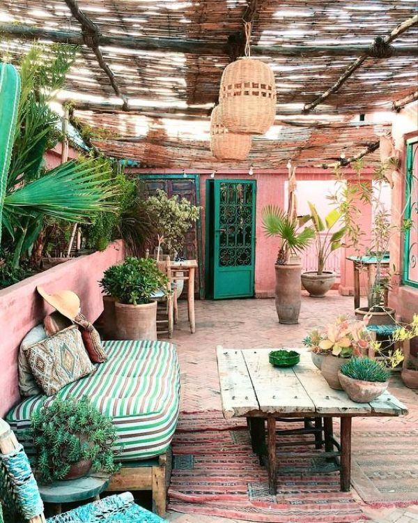 Outdoor Pink and Green Oasis Design Addicts