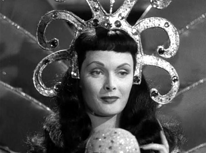 "Tamara Lees (as Antinea, Queen of Atlantis) in Mario Mattoli's ""Totò sceicco"" (Italian title: ""Totò Sheik"", 1950)."