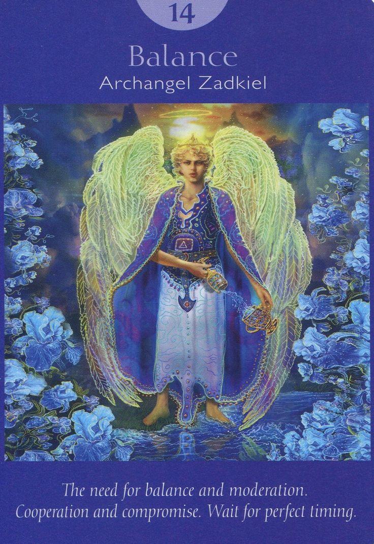 XIV. Temperance (Balance)- Archangel Zadkiel