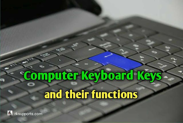 Keyboard Keys Functions
