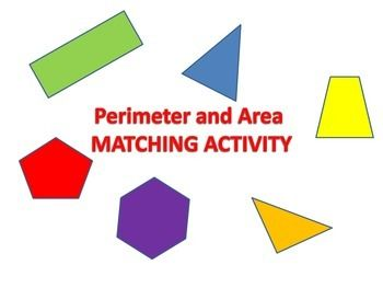 In this activity students will find the area and perimeter of different polygons including a rectangle, triangle, trapezoid, regular pentagon, regular hexagon, and parallelogram. They will match the perimeter and area to each figure and place in the correct spot on their answer sheet.