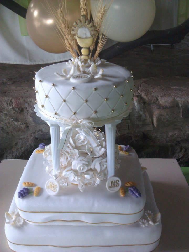 Tortas decoradas para primera comunión