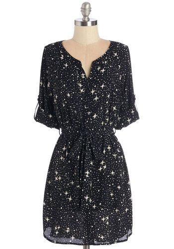 Briolette It Shine Tunic. Shine as bright as a sparkling diamond in this star-printed top! #gold #prom #modcloth