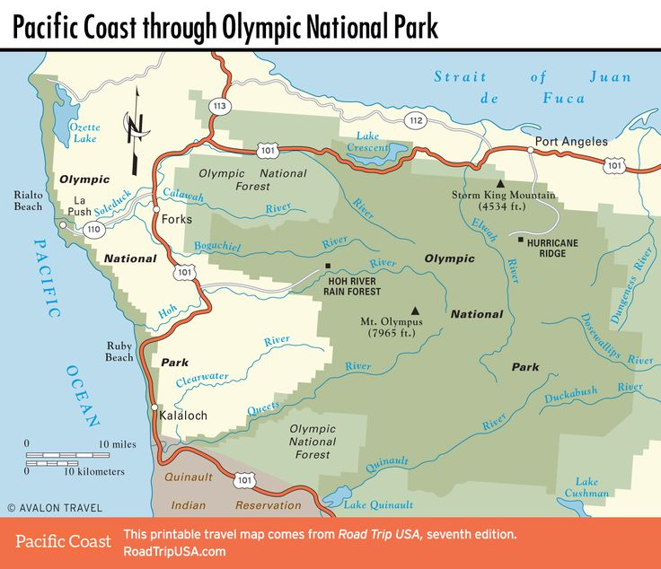 The Best Olympic National Park Map Ideas On Pinterest - Usa map national parks