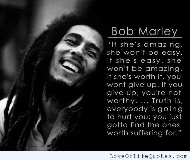 Bob Marley Quote   OpinionatedMale.com