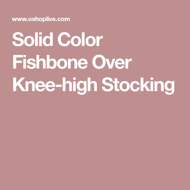 Solid Color Fishbone Over Knee-high Stocking