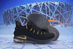 38e2c12675c33 Nike LeBron 15 Low Black Gold AO1756 008 Men s Basketball Shoes James  Trainers