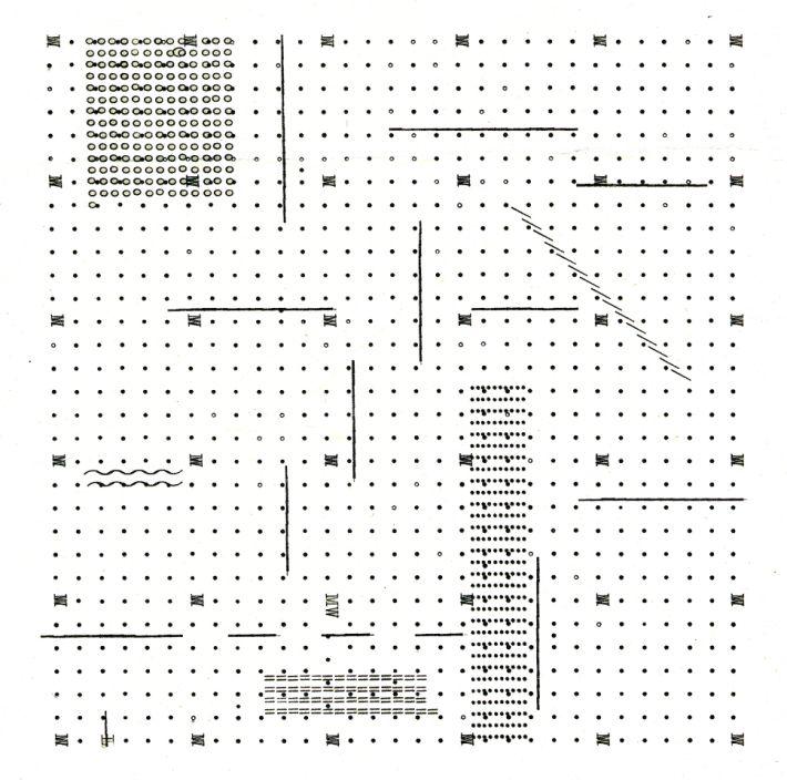"""archizoom, """"No-stop city"""". Ipotesi di linguaggio architettonico non figurativo, 1970 (via abitare)"""