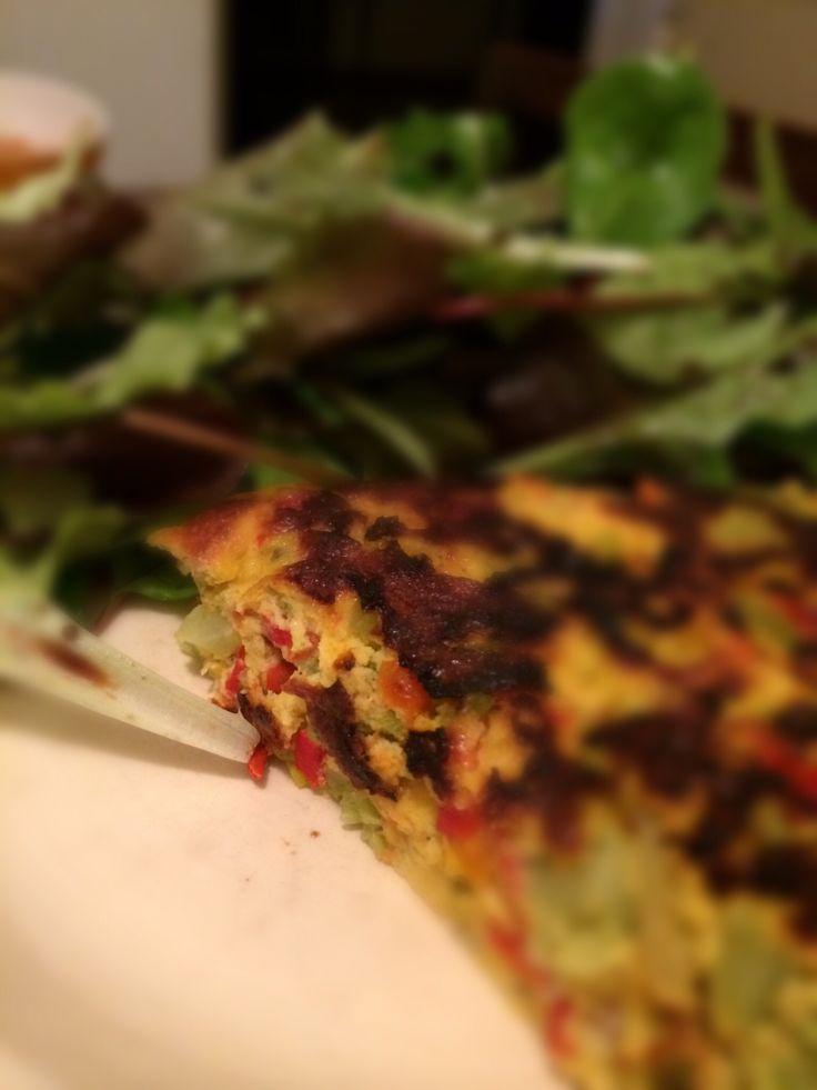 Frittata vegetale con pecorino