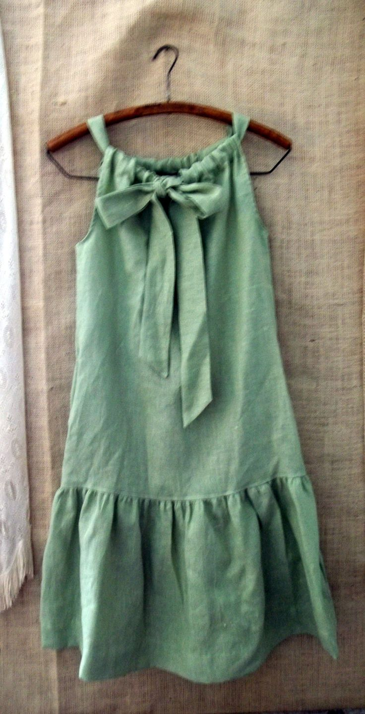 Pillowcase dress with ruffles