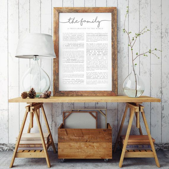 Extra Large Family Proclamation Print LDS 24x36 by PrintItEngineer