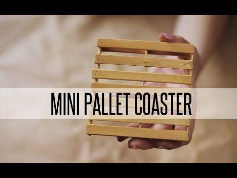 DIY MINI PALLET COASTER - YouTube