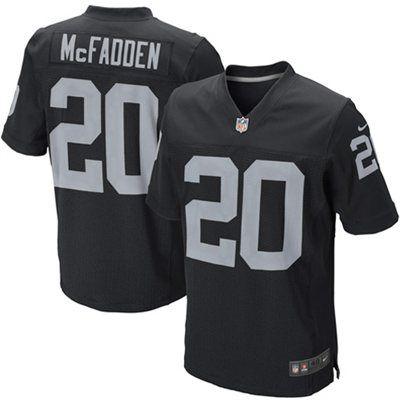 ... NFL Darren McFadden 20 Womens Triblend Name and Number Ringer V-Neck  Mens Oakland Raiders Darren McFadden Nike Black Elite Jersey ... 665f46ee2