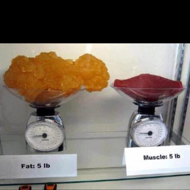 Muscle does weigh more than fat, just make sure you're more muscle!