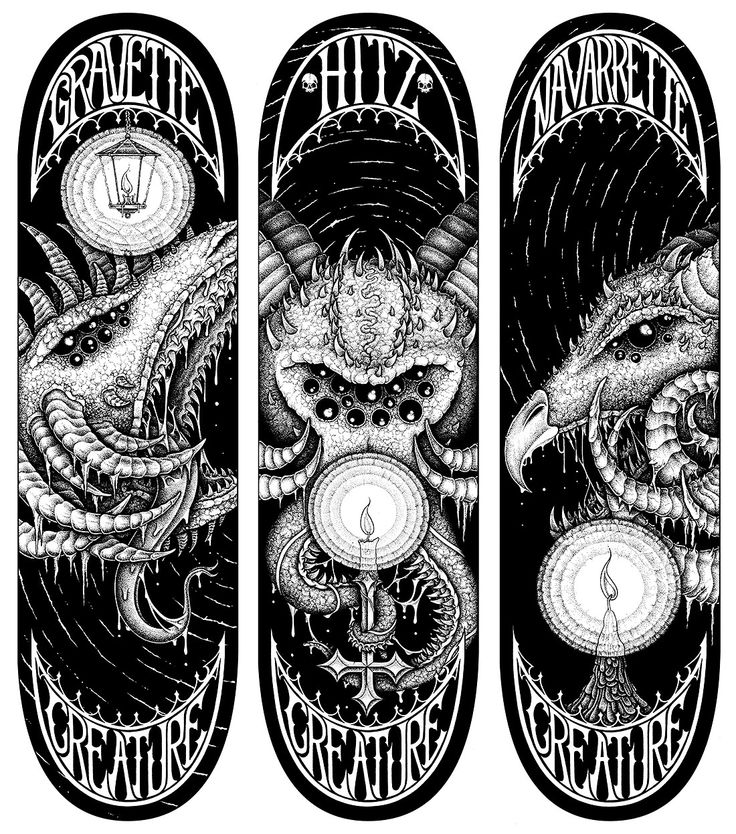 Mike Lawrence Illustration | Creature Skateboards – Demon Series