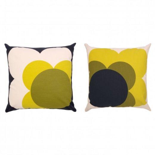 Orla Kiely Big Spot Shadow Flower Yellow Cushion