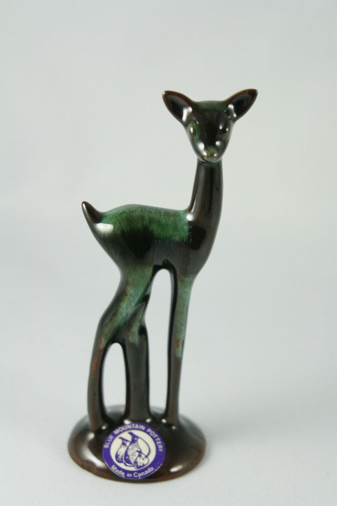 Blue Mountain Pottery Standing Fawn Original Paper Label BMP