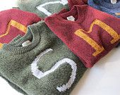 Harry Potter Sweater - Custom Weasley Sweater made just for you - Your initial on a sweater - Monogram. $100.00, via Etsy.  I am not gonna lie....I TOTALLY want this.