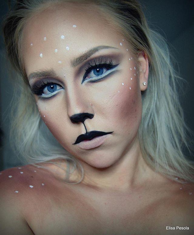 deer makeup halloween costume ideas youll want to fawn over - Halloween Costume Ideas Makeup