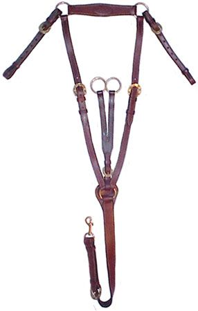Australian Breast Plate with Running Attachment   www.tackwholesale.com