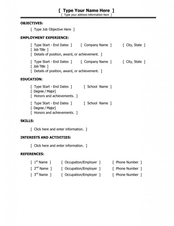 Best 25 Basic Resume Examples Ideas On Pinterest Employment Cover