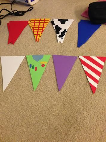 DIY buzz & woody themed banners