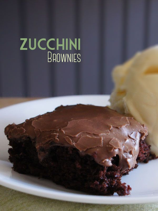 Zucchini Brownies and the BEST Milk Chocolate Frosting. Yummy brownie recipe!