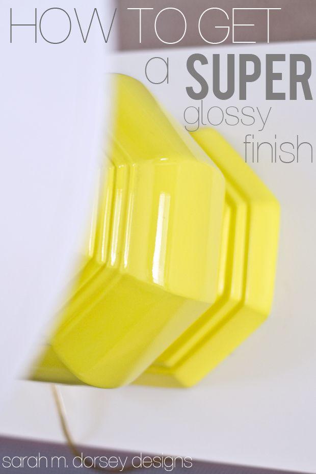 Super Glossy Yellow Lamps + TN Living Room Sneak Peek