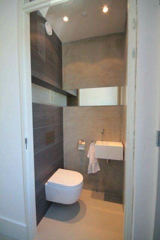 Beton Look Gaste Wc Gast Kleine Badezimmer Moderne Bader Klinik Einrichten Und Wohnen Renovierung