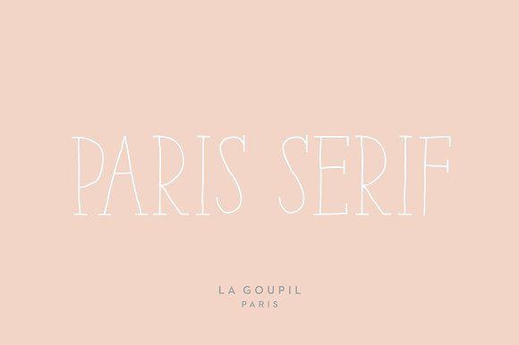 Paris Serif Font Pack by La Goupil Paris on @creativemarket