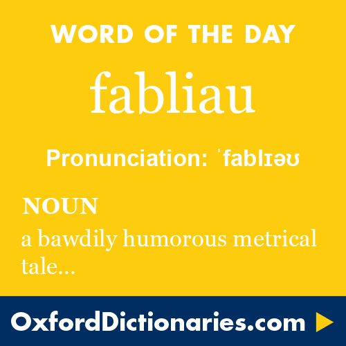 9932 best words images on pinterest english language for Fabliau definition