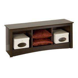Fremont Wood Cubbie Storage Bench In Espresso