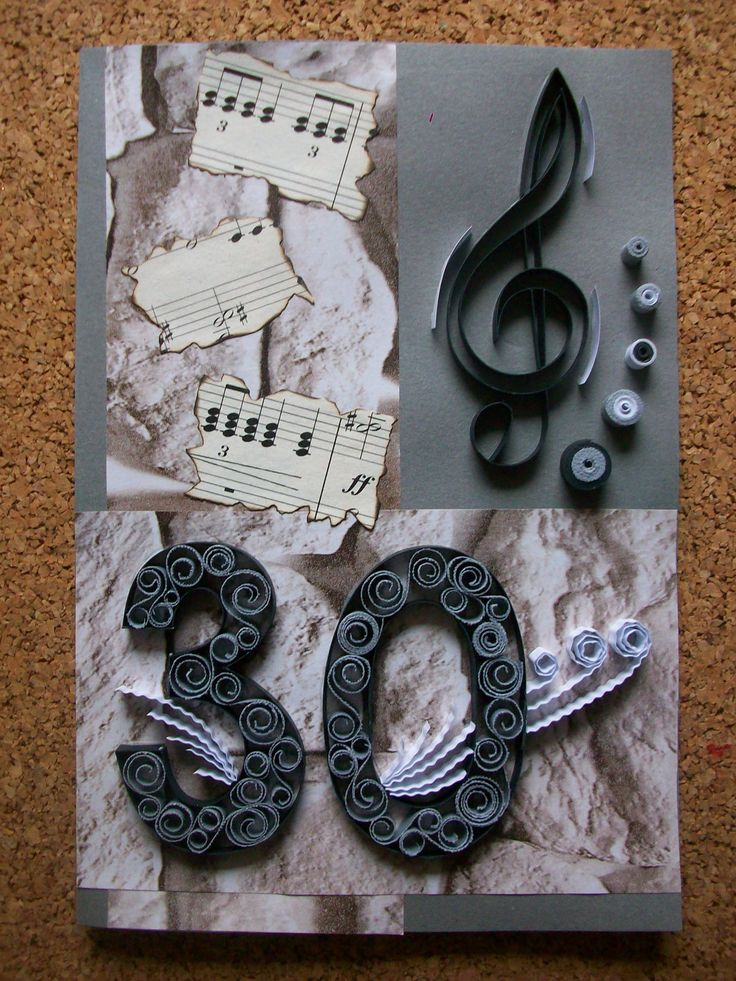 Birthday 30th Anniversary Quilling card,Birthday card for