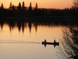 #Canoeing while at Flora Bora - located near Emma and Christopher Lake, #Saskatchewan