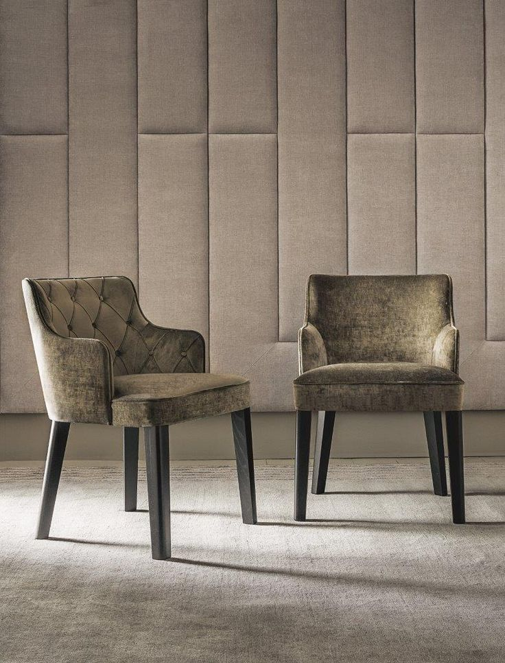 ROYALE chairs by Castello Lagravinese, available also with tufted back (inside or outside). More on http://www.casamilanohome.com