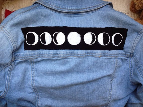 Moon Phases Back Punk Rock Grunge Patch by ObscuredPunk on Etsy