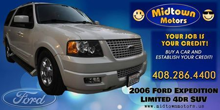 2006 Ford Expedition Limited 4dr SUV Click to check this car.. http://www.midtownmotors.us/2006_Ford_Expedition_San%20Jose_CA_5504527.veh #Fordexpeditionlimited #Fordexpedition #Ford #SUV #Car #Auto #Insurance #Bestprice #Affordable #Bestdealer #Bestservice #Carservice #Midtownmotors