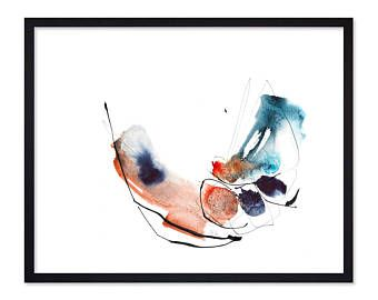 """Abstract Watercolor Painting Print created form my watercolor painting """"Bird in Love"""" - Art print - high quality giclee print - abstract painting - abstract art - visit my Etsy shop etsy.com/shop/TangoYourLife"""