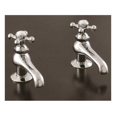 Photo Image Strom Plumbing Hot u Cold Faucet Set with Metal Cross Handles Vintage Tub and Bath
