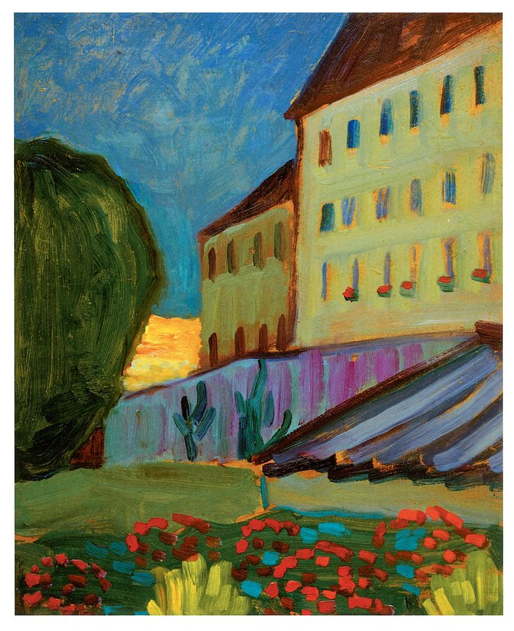 Gabriele Münter (1877-1962) Münter en Kandinsky maken in de loop van 1910 – '11 kennis met de eveneens in de buurt wonende kunstschilder Franz Marc. Vanuit Murnau smeedt Kandinsky met Marc plannen voor een nieuwe kunstenaarsgroep: 'der Blaue Reiter', waar ook Gabriele Münter, Maria Marc en de Rijnlandse kunstschilder August Macke en zijn echtgenote aan deelnemen.