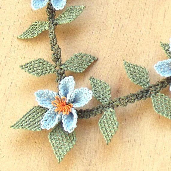 Turkish OYA Lace Silk Necklace by DaisyCappadocia on Etsy