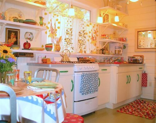 It Is A Bright And Hy Kitchen