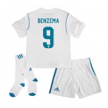 Real Madrid Karim Benzema 9 kläder Barn 17-18 Hemmatröja Kortärmad  #Billiga #fotbollströjor