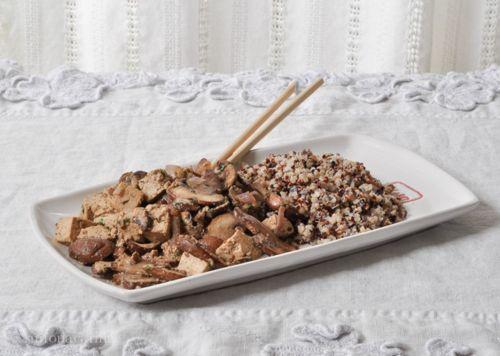 Recipe: red-cooked tofu with mushrooms / Ricetta: tofu marinato con funghi — X like Xian, China