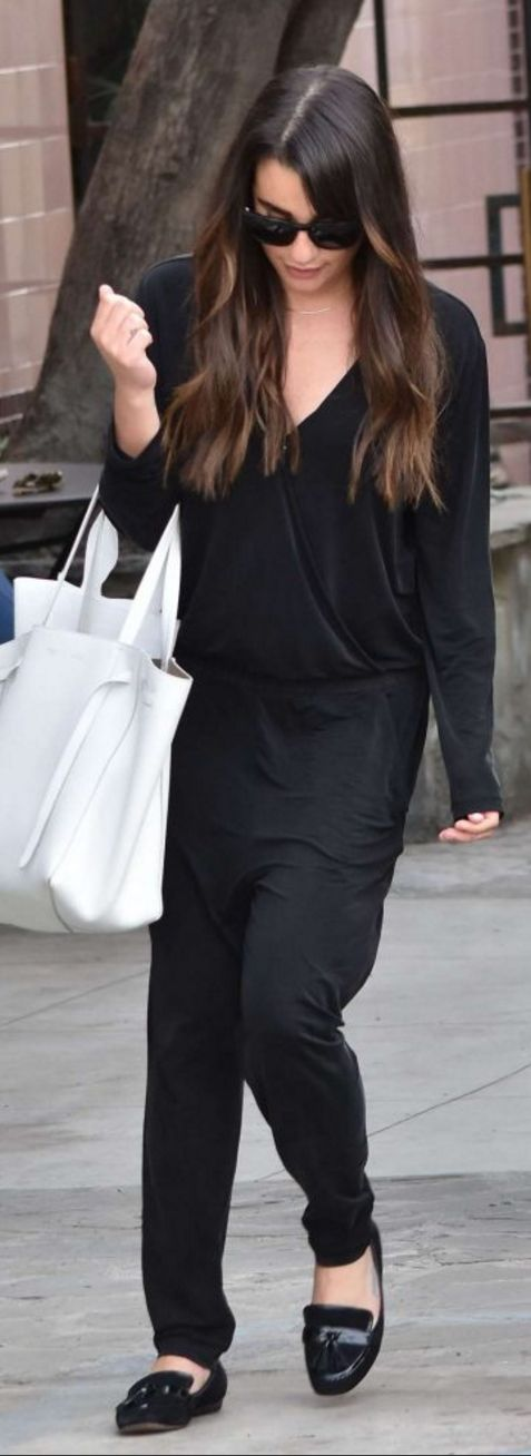 Lea Michele wearing Age and Celine