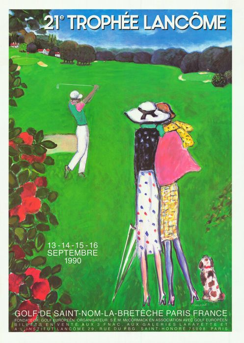 Cassigneul César Adami - 21-23ème: Trophée Lancôme (golf) - 1990-1992  1) Cassigneul - Golf 21e trofee Lancôme - 1990Originele Franse poster warmgewalste / origineel Franse poster roldeGrootte: 60x80cm / formaat: 23 x 32 inchIllustrateur / kunst door: CassigneulTrès bon état / zeer goede staat2) Caesar - Golf 22 trofee Lancôme - 1991Originele Franse poster warmgewalste / origineel Franse poster roldeGrootte: 60x80cm / formaat: 23 x 32 inchIllustrateur / Art by: CésarTrès bon état / zeer…