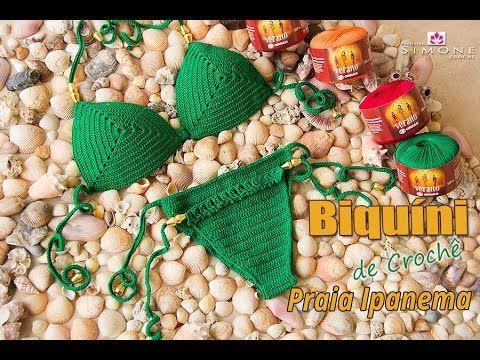 Biquíni de Crochê Praia de Ipanema - Tamanho M - Professora Simone - YouTube