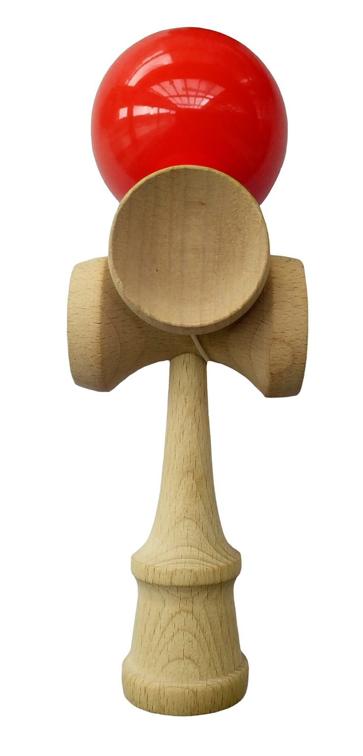 5-Cup Professional Kendama Trick Toy, Red